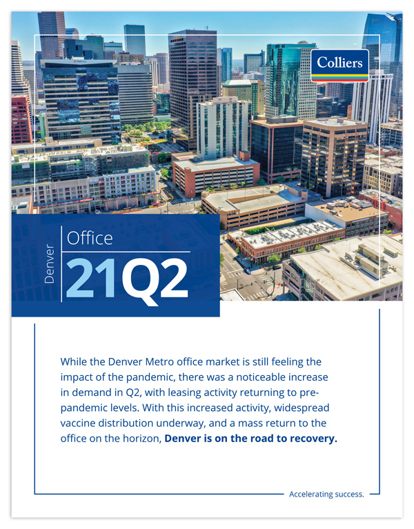 Cover of Q2 2021 Office Quarterly Report